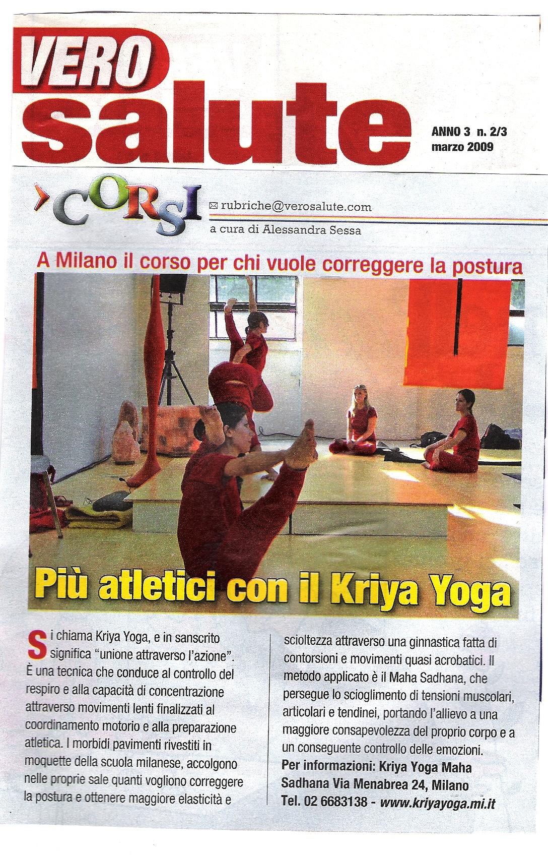 Più atletici con kriya yoga
